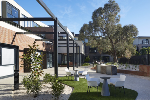 Safe outdoor spaces for residents to engage, meander or have a BBQ